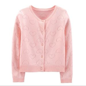 Carter's pink cardigan sweater